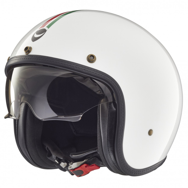 Helmo Milano open face helmet, Audace, Italy Flag, white