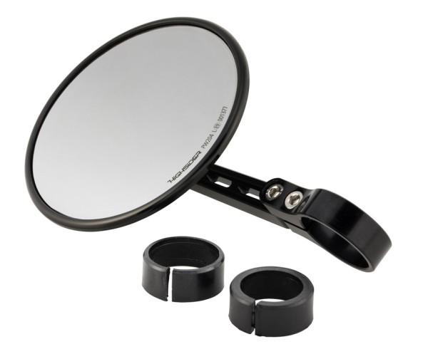 Handlebar end mirror Highsider Montana 2, black, for Vespa, left or right