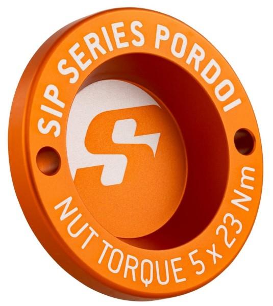 "Hub nut cover 13"" front rim for Vespa GTS/GTS Super/GTV/GT 60/GT/GT L 125-300ccm, matt orange"