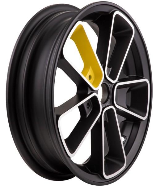 "Rim front/rear 12"" for Vespa GTS/GTS Super/GTV/GT 60/GT/GT L 125-300ccm, black/yellow"