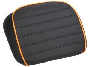 back pad, black / orange