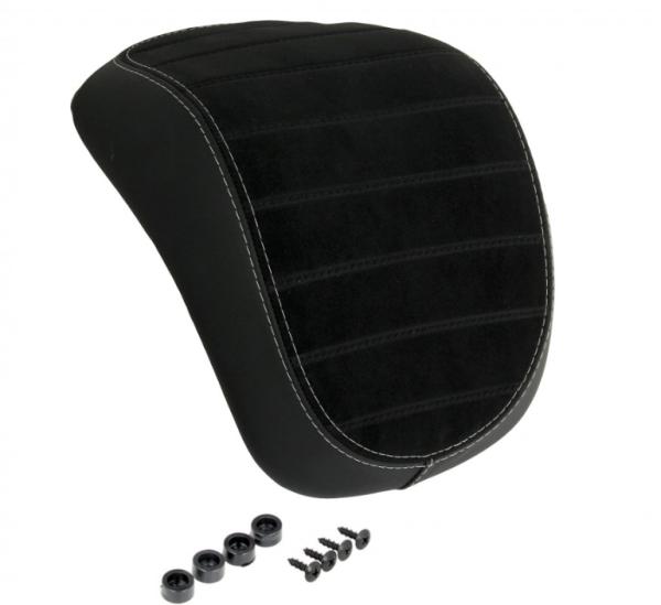Original top box backrest Vespa Primavera / Sprint black with white stitching