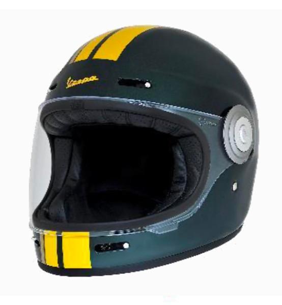 Vespa integralhelmet VJ Racing 60s green / yellow - Sixties