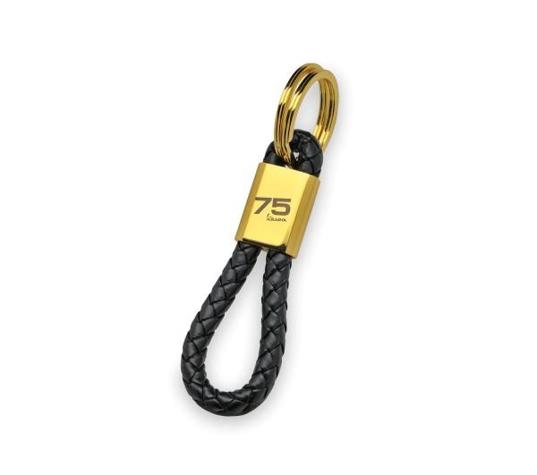 Vespa key ring 75 years - black