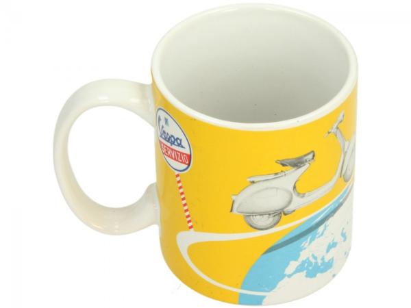 Vespa mug yellow
