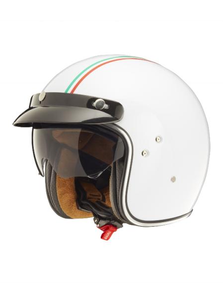 Shiro Jethelm, SH235 GT, Italy Flag, white