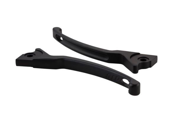 Sport Lever Set brake for Vespa, black mat, left and right
