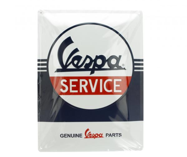 Vespa metal plate Vespa Service, 30x40 mm