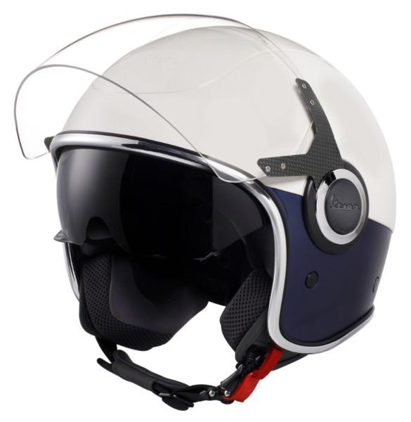Vespa VJ Helmet White blue