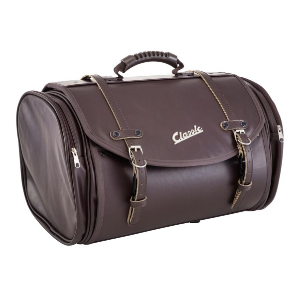 """""""Classic"""" bag for Vespa - dark brown, synthetic leather"""