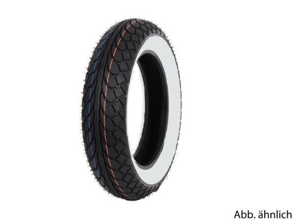 Mitas tyre 100/80-10, 53L, TL, white sidewall tyre, MC22, front
