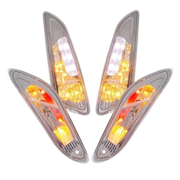 Turn signal set LED clear for Vespa Primavera / Sprint 50ccm 2T / 4T