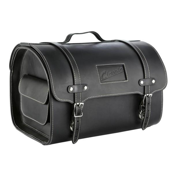 """Classic"" leather case for Vespa - black"