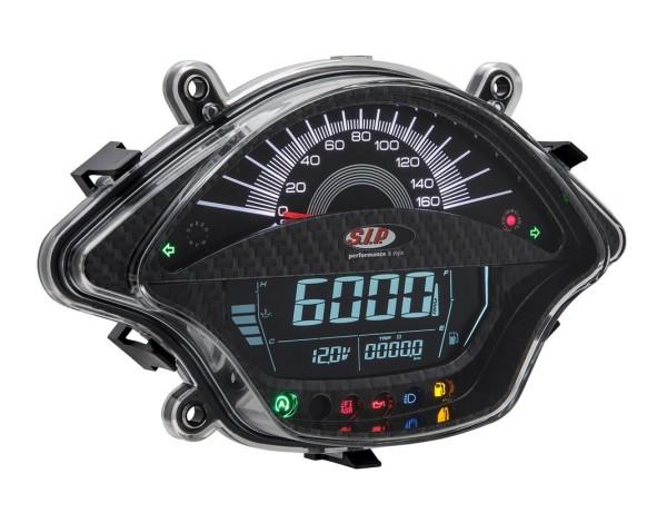 Speedometer/Rev Counter for Vespa GTS/GTS Super 300ccm FL ('14-), carbon-look