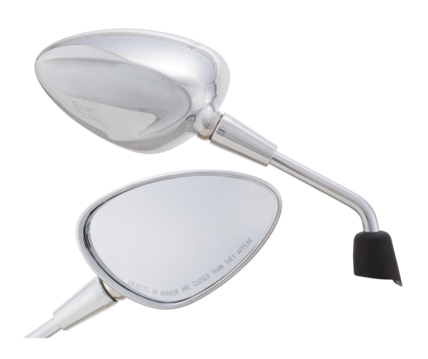 Mirror Shorty silver right and left for Vespa Sprint 50-150ccm 2T / 4T