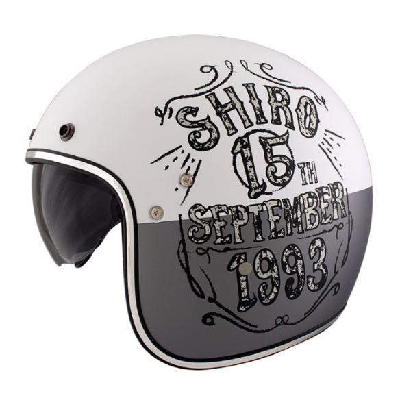 Shiro Jethelm, SH235, Born, grey/white/matt