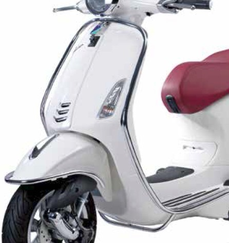 Chromed front protection bars Vespa Primavera / Sprint / Elettrica
