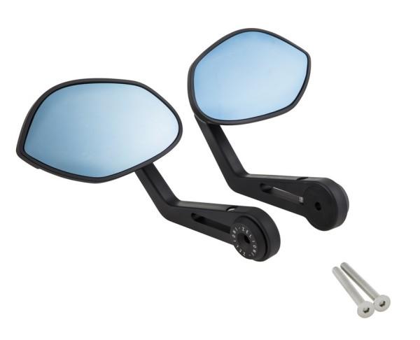 Handlebar end mirror ZELIONI for Vespa, matt black, left and right