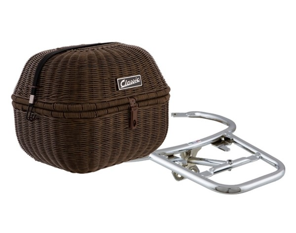 Luggage basket kit Classic for Vespa GTS/GTV/GT60 125-300ccm, dark brown