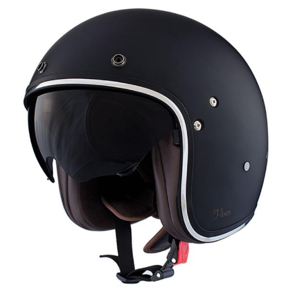 Shiro Jethelm, SH235, Fiber, black matt