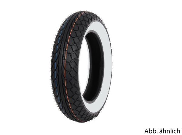 Mitas tyre 120/70-10, 54L, TL, white sidewall tyre, MC22, rear