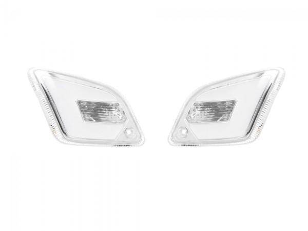 LED turn signal set rear for Vespa GT, GTL, GTV, GTS 125-300 rear, tinted