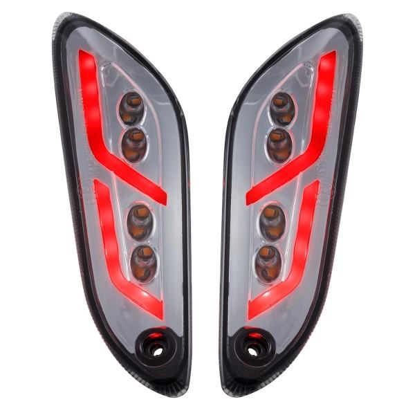 Indicator kit rear left / right LED tinted for Vespa Primavera / Sprint 50-150ccm SIP Style