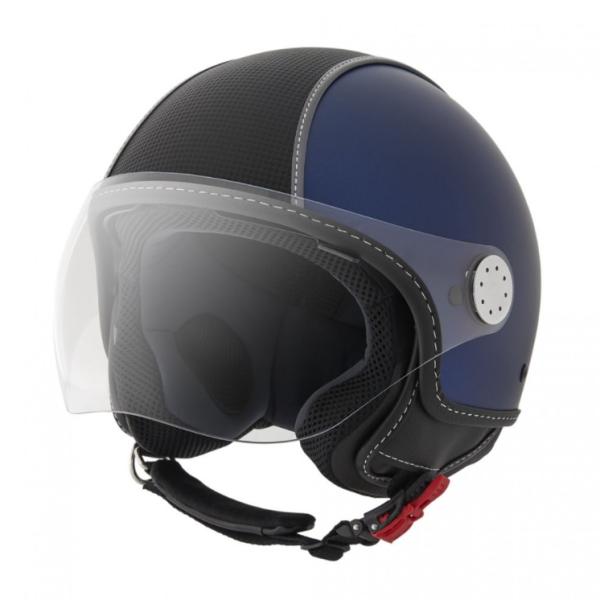 Piaggio Demi Jet helmet, Carbonskin, blue