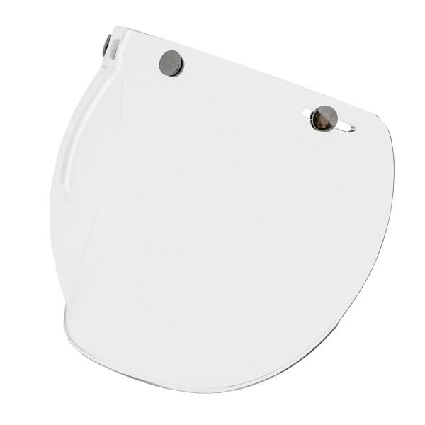 Bubble visor (transparent) with snaps for Vespa Jet helmets