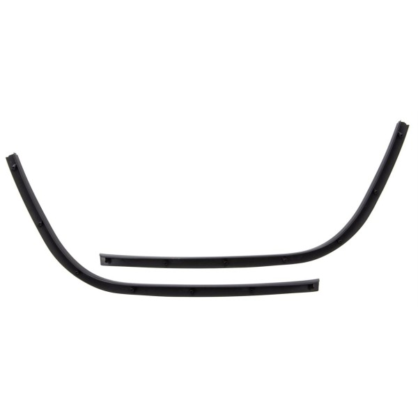 Mono-slot tube footboard glossy black for Vespa Primavera / Sprint 50-150ccm