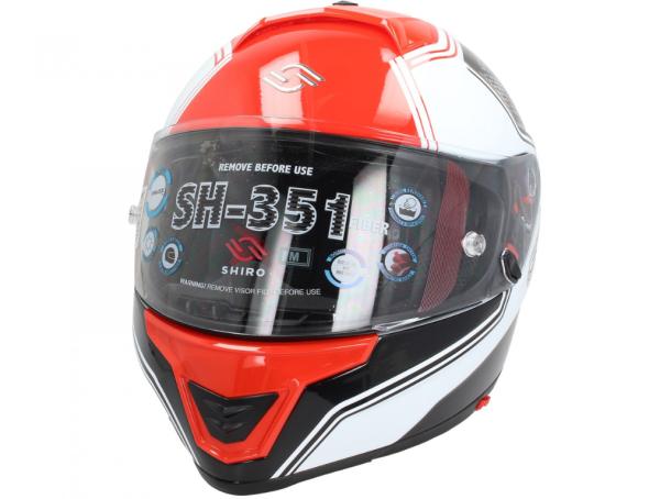 Shiro Integral Helmet, SH351, Fiber, F4, red