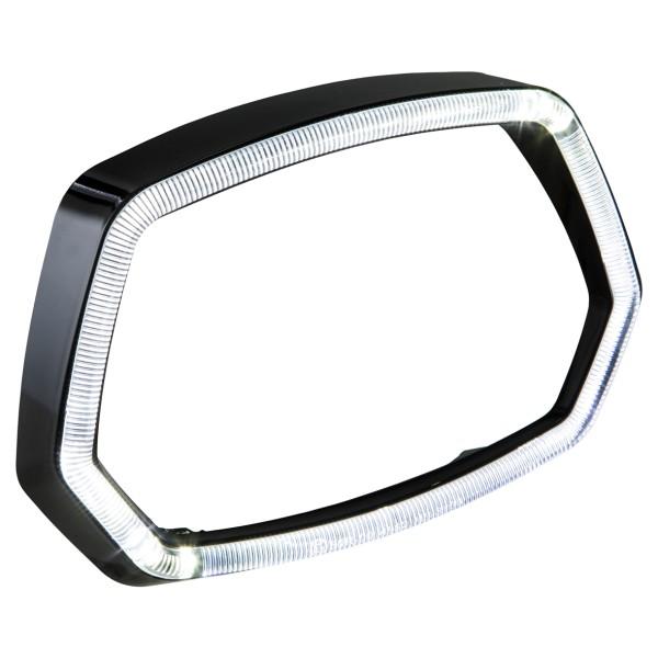 Lamp ring glossy black LED light ring for Vespa Sprint 125 / 150ccm 4T ('13 -'18)