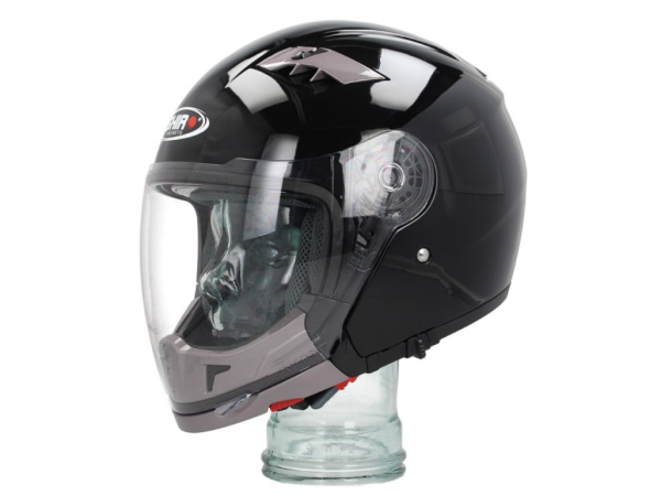 Shiro Integral Helmet Convertible, SH414, System, black