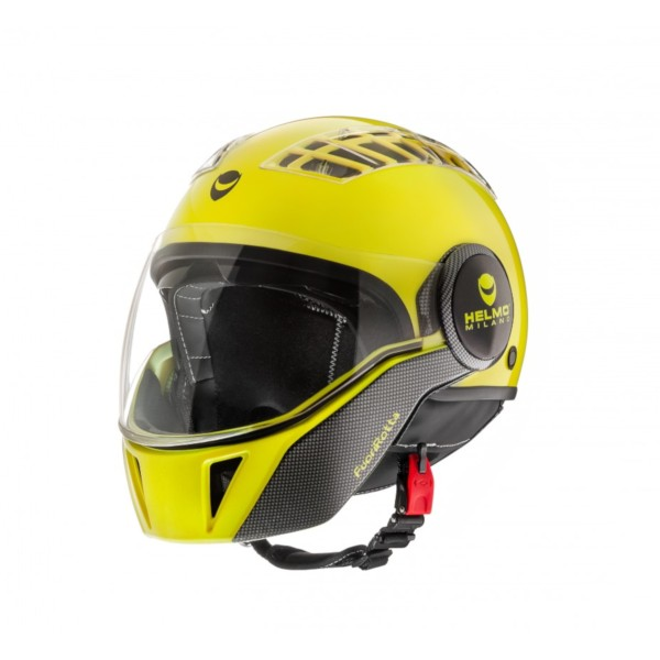 Helmo Milano Full Open Face Helmet, FuoriRotta, yellow