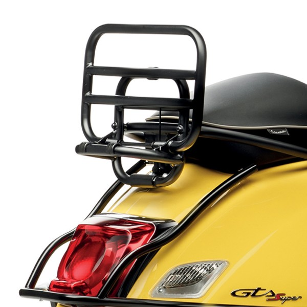 Folding rear luggage rack for Vespa GTS top case