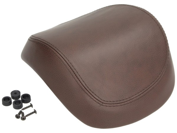 Original real leather backrest for Vespa Primavera / Sprint / Elettrica - brown
