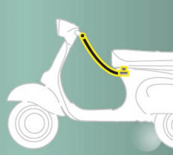 Anti-theft device (seat - handlebar) standard for ZIP Original Piaggio