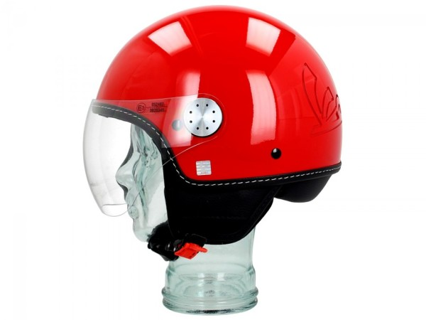 Vespa Jet Helmet Visor 3.0 red passion