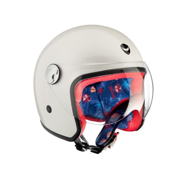 Helmo Milano Children's Helmet, PiccolaPeste, white