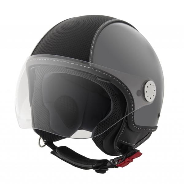Piaggio Demi Jet helmet, Carbonskin, grey