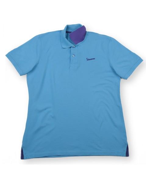 "Vespa Polo Shirt ""Vespa Logo"" man light blue"