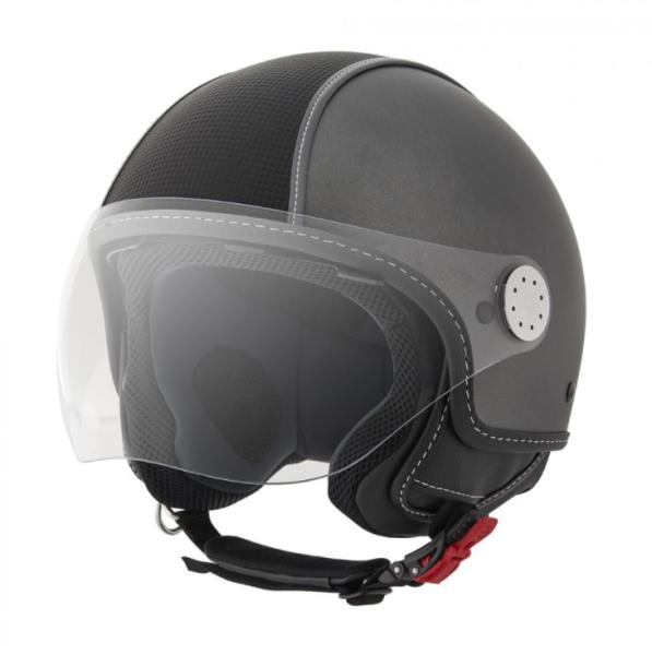 Piaggio Demi Jet helmet, Carbonskin, grey, matt
