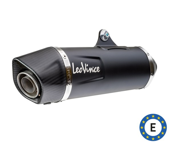 LeoVince exhaust system Nero, stainless steel, black, complete system, for Vespa 300 GTS Euro 5