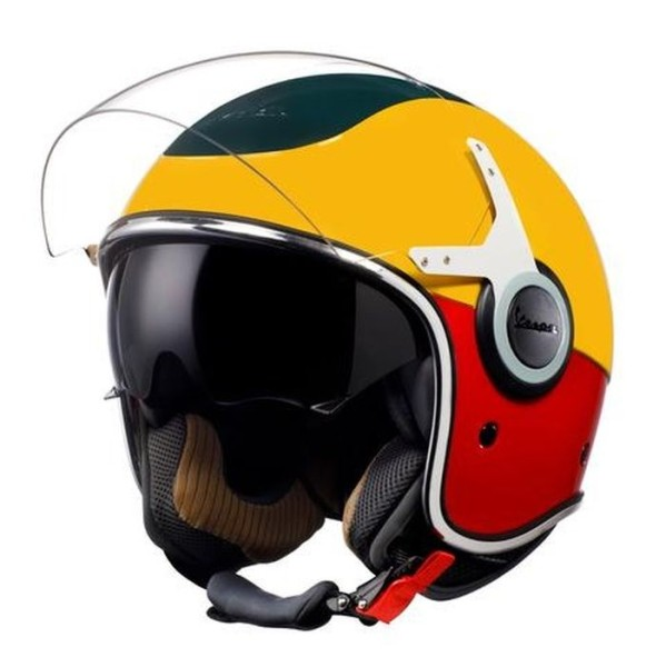 Vespa open face helmet VJ Racing 60s white / red - Sixties