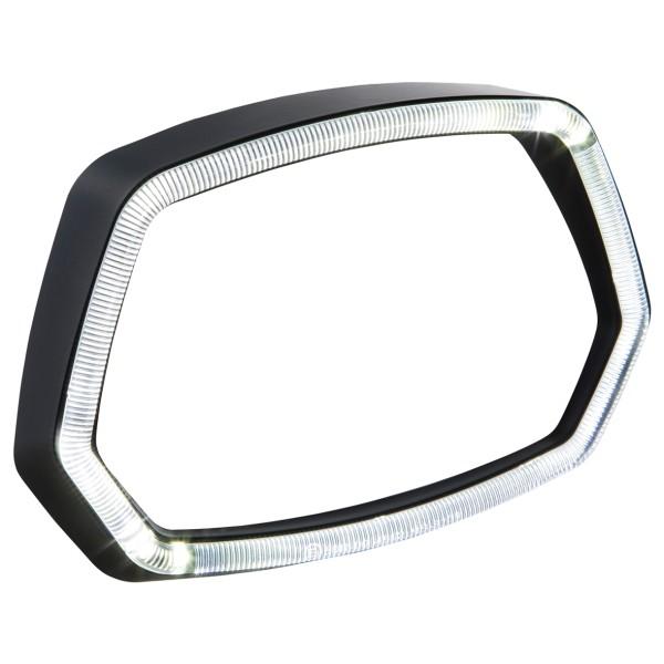 Lamp ring matt black LED light ring for Vespa Sprint 125 / 150ccm 4T ('13 -'18)