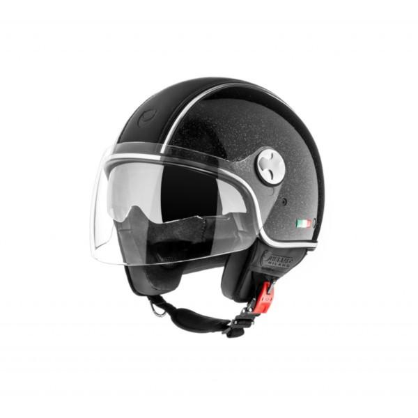 Helmo Milano Demi Jet, PelleDura Premium, shiny black, glitter