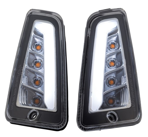 Indicator kit front left/right for Vespa GTS/GTS Super/GTV/GT 60/GT/GT L 125-300ccm ('03-'13), clear