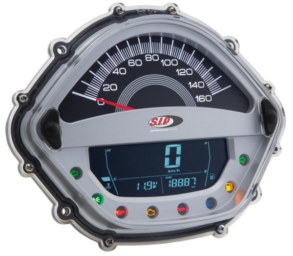 Speedometer/Rev Counter for Vespa GTS/GTS Super 125-300ccm ('14-'16), silver
