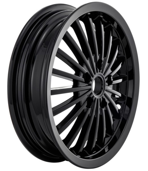 Rim front/rear for Vespa GTS/GTS Super/GTV/GT 60/GT/GT L 125-300ccm, black shiny