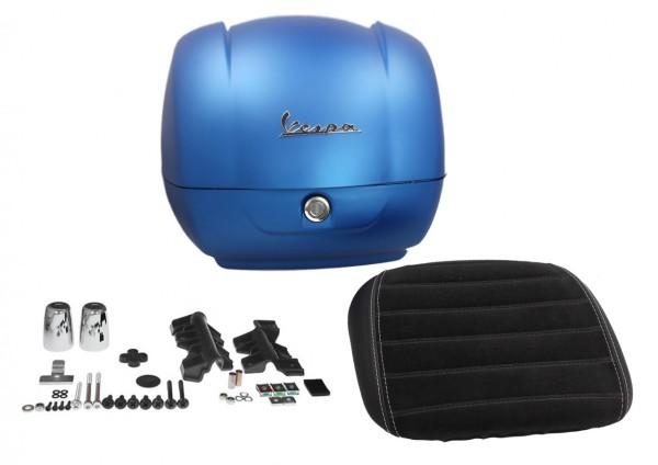 Original top case for Vespa GTS Super Sport - matt blue / matt line blue 297 / A, 36 l, My 19